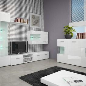 Intérieur du salon avec des meubles de couleur claire