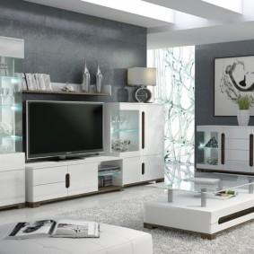 Meubles d'armoire pour le salon d'une maison privée