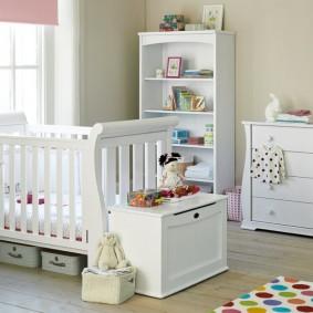 Meubles modulables dans une chambre de bébé