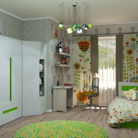 Armoire d'angle modulaire