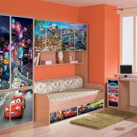 Impression photo sur les façades des meubles pour enfants