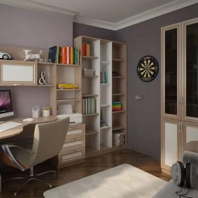 Meubles d'armoire dans une pièce avec un rebord