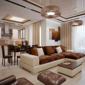 Éclairage du hall dans un appartement moderne
