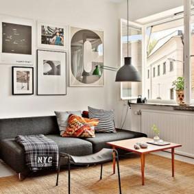 Canapé pliant gris
