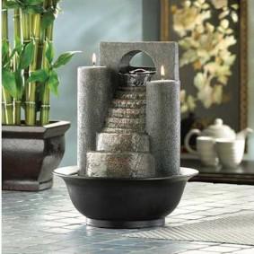 Fontaine décorative au sol du salon
