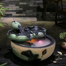 Fontaine d'ambiance avec fonction brouillard