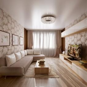 Lustre de plafond plat