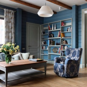 Bibliothèque dans le salon