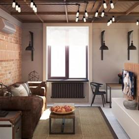 Suspensions au plafond du salon
