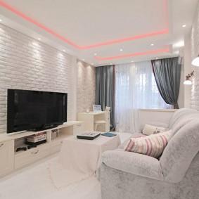 Chambre lumineuse dans un style moderne