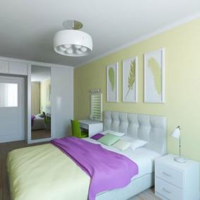 Chambre confortable pour les jeunes conjoints