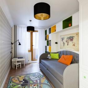Canapé direct dans un petit salon
