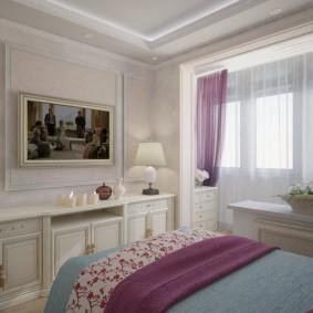 Chambre classique aux couleurs vives