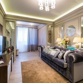 Canapé luxueux avec revêtement textile