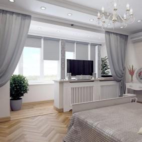 Zonage de la chambre avec rideaux occultants