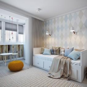 Canapé-lit pour enfants avec tiroirs