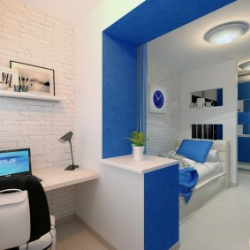 צבע כחול בפנים חדר ילדים