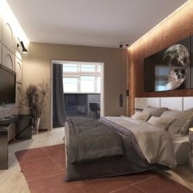 Chambre élégante dans un appartement de deux chambres