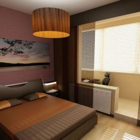Couleur marron dans la conception de la chambre