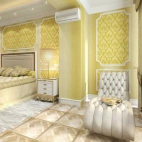 Conception d'une chambre après combinaison avec une loggia