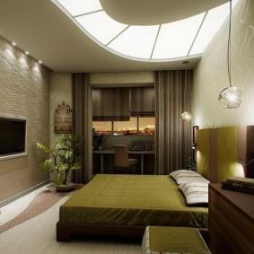 Plafond à deux niveaux dans la chambre