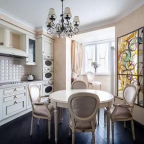 Chaises de cuisine de style classique
