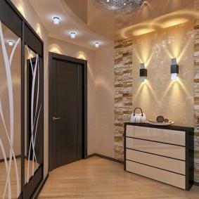 Éclairage de couloir de style moderne