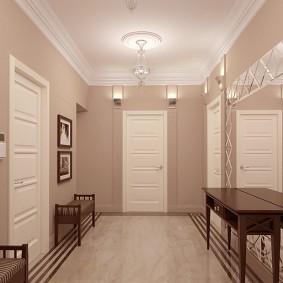 Mobilier minimal dans un couloir de style moderne