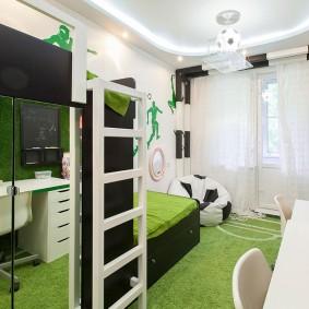 Chambre d'enfants élégante avec de beaux meubles