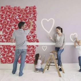 Décoration murale de chambre avec enfants
