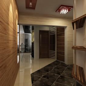 Hall d'entrée moderne dans un appartement de deux chambres
