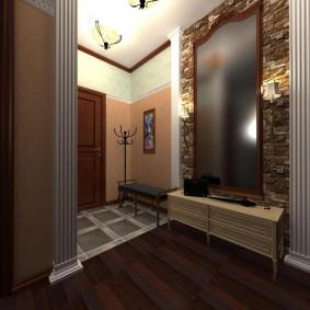 Éclairage de couloir dans un studio