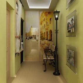 Lampe de jardin dans le hall d'entrée de l'appartement