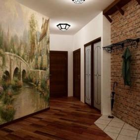 Papiers peints à l'intérieur d'un couloir moderne