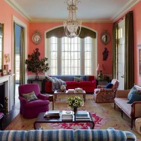 Décoration intérieure lumineuse du salon