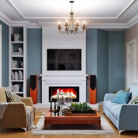 Meubles rembourrés dans un salon confortable