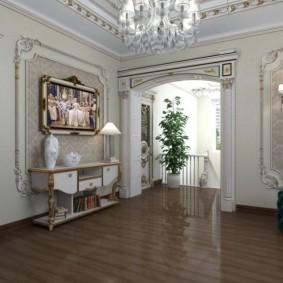 Design classique de la salle de passage