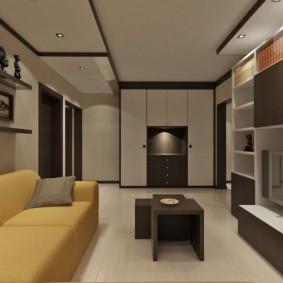 Meubles d'armoire dans la conception du salon