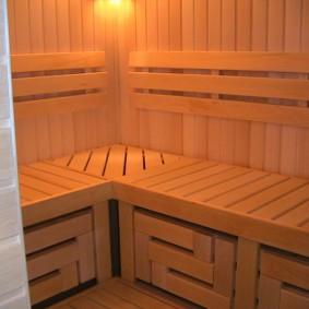 Banc de hammam pour sauna finlandais