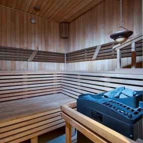 Poêle de sauna électrique dans le hammam