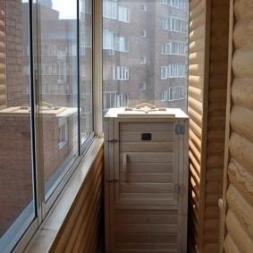 Sauna en cèdre au bout du balcon