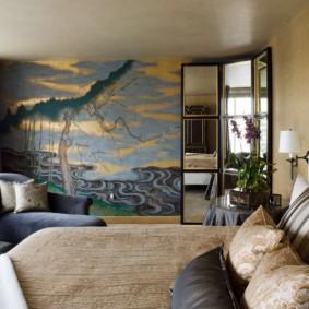 Papier peint à l'intérieur de la chambre