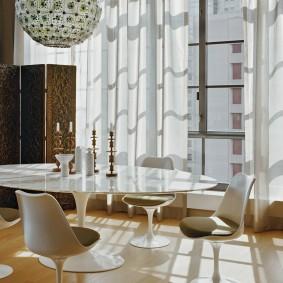 Groupe de salle à manger de style moderne