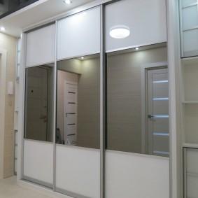 Portes vitrées sur châssis aluminium