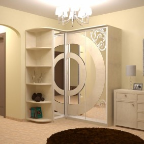 Conception de couloir avec armoire d'angle