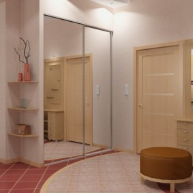 Éclairage dans un couloir de style moderne