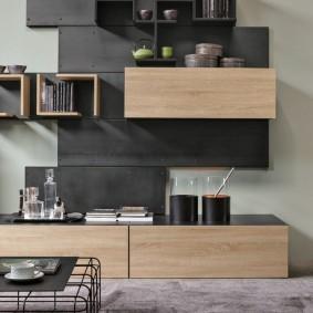 Mur modulaire dans le salon