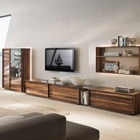 Modèle bas de mur de meubles pour le hall