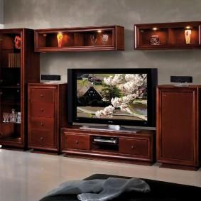 Éclairage décoratif dans des meubles de style classique
