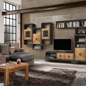 Mur gris à l'intérieur de la salle